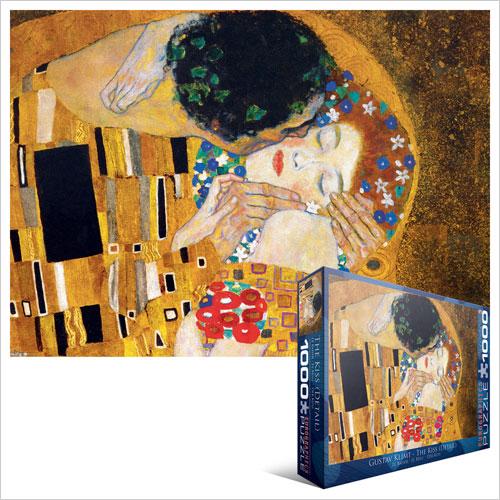 Eur-6000-0142,Puzzel  eurographics -the kiss - gustav klimt- 1000 stukjes 48x68 cm