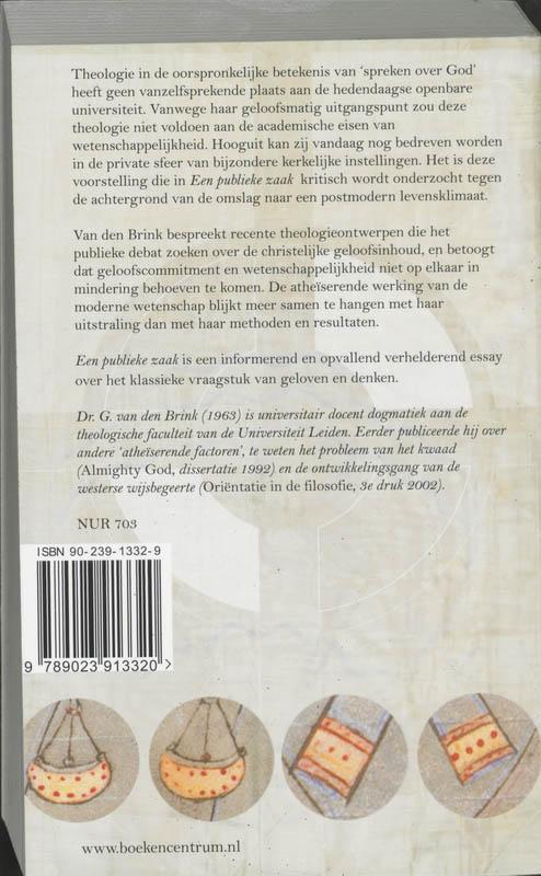 G. van den Brink,Een publieke zaak