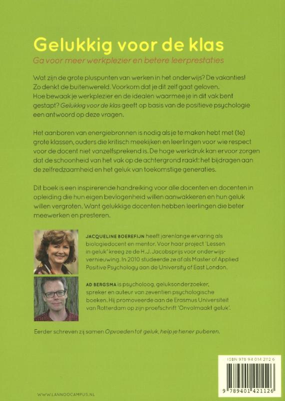 Jacqueline Boerefijn, Ad Bergsma,Gelukkig voor de klas