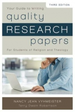 Nancy Jean Vyhmeister,   Terry Dwain Robertson Quality Research Papers