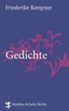 Kempner, Friederike Gedichte