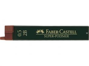 , Potloodstift Faber Castell 0.5mm 2B 12stuks