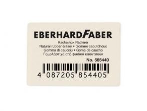 , gum Eberhard Faber voor potlood wit doos à 40 stuks