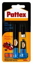 , Secondelijm Pattex all plastic tube 3gram op blister