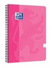 , Spiraalblok Oxford Touch A4 ruit 5mm 70vel roze