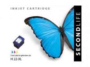 , Cartridge SecondLife HP 22 XL kleur