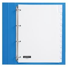 , Tabbladen Quantore 4-gaats 10-delig met venster wit PP