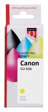 , Inktcartridge Quantore Canon CLI-526 geel