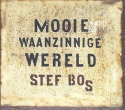 Het nieuwe langverwachte album MOOIE WAANZINNIGE WERELD (uitgebracht op CD en vinyl) van Stef Bos is nu  verkrijgbaar.Na Minder Meer (2011) is dit Stefs 13e studio-album. Ook nu weer met prachtige nummers.