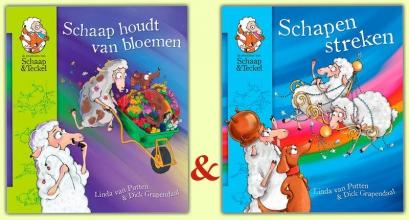 Putten, Linda van / Grapendaal, Dick Set 'Schaap houdt van bloemen' en 'Schapenstreken'