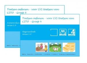 O.H.M. Sanders , Toetsen oefenen - voor LVS toetsen van CITO Groep 4 - versie 1.0 Opgaven en Antwoorden/uitlegboek