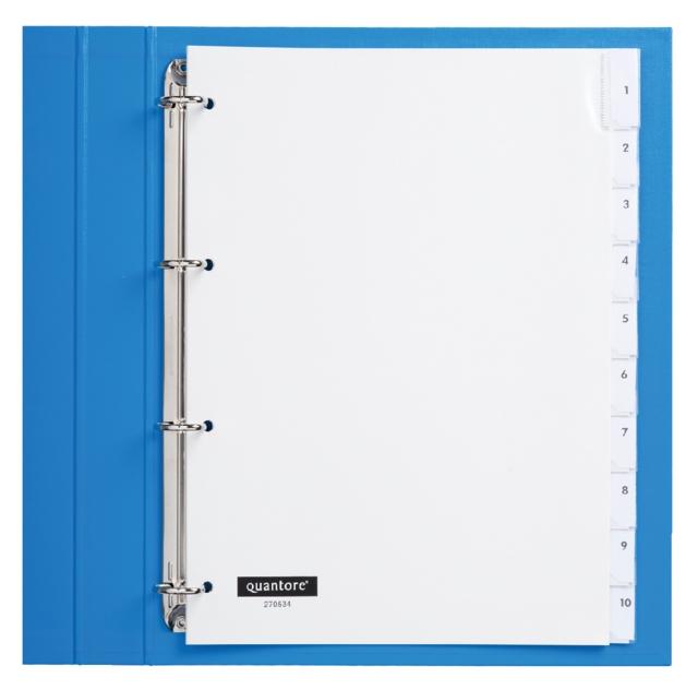 ,Tabbladen Quantore 4-gaats 10-delig met venster wit PP