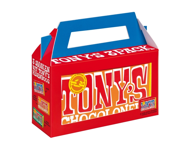 ,Chocolade Tony`s Chocolonely  Rainbowpack Classic 3 repen à 180gr