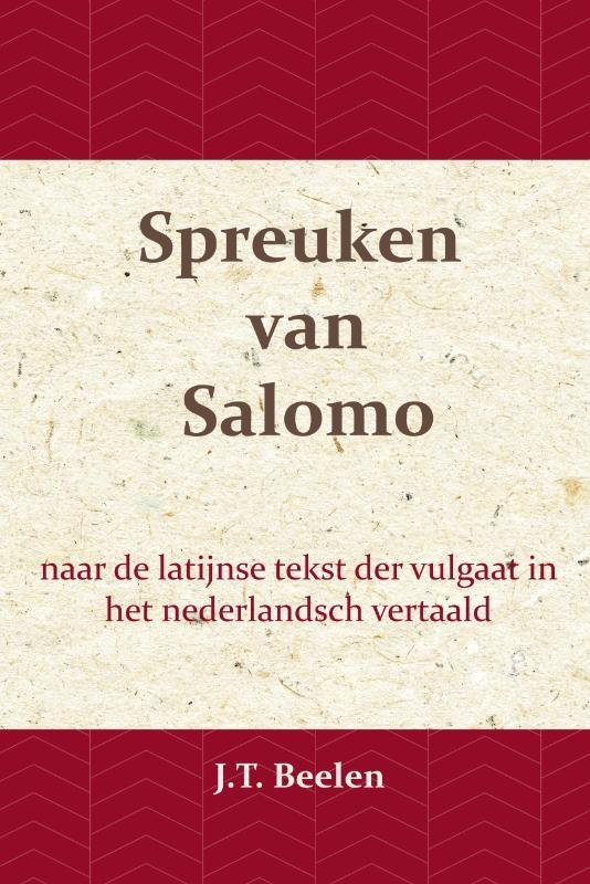 J.T. Beelen,De Spreuken van Salomo