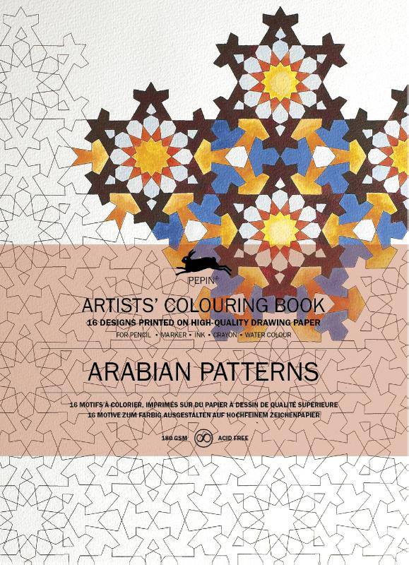 ,Artists colouring book Arabian patterns