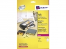 ,laseretiket Avery 70x52mm wit 25 vel 10 etiketten per vel