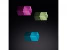 ,magneet voor glasbord mix packBright: turquoise, paars, lichtgroen                        3 stuks 1