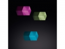 <b>magneet voor glasbord mix packBright: turquoise, paars, lichtgroen                        3 stuks 11x11x11mm Strong</b>,