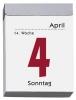 Tagesabreißkalender 302 im Hochformat,Schlitzweite 21 mm, Standard