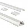,<b>Kabelkanaal Hama halfrond 110/3,3/1,8 cm aluminium wit</b>