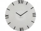 ,Wandklok NeXtime dia. 43 x 3.5 cm, glas, wit, `Sticks`