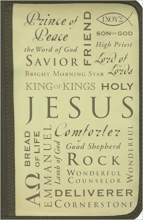 Inspiration Names of Jesus Large Book & Bible Cover