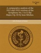 Norine, John Richard Jr Comparative Analysis of the 1915 and 1919 Versions of the Sy