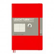 Lt358296 , Leuchtturm notitieboek softcover 19x12.5 cm lijn rood