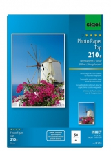, inkjetpapier Sigel A4 210grs pak a 50 vel fotopapier        hoogglans