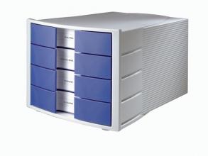 ladenkast HAN Impuls met 4 gesloten laden blauw