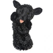 Pc006005 , Zwart schaap handpop ca 38 cm