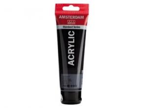 , Talens amsterdam acrylverf tube 120 ml. lampenzwart 702