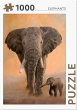 , Elephants - puzzel 1000 stukjes