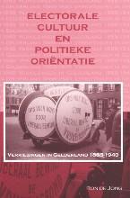 R. de Jong Electorale cultuur en politieke orientatie