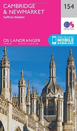 Ordnance Survey,Cambridge, Newmarket & Saffron Walden