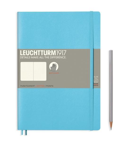 Lt357659,Leuchtturm notitieboek composition softcover 178x254 mm lijn licht blauw