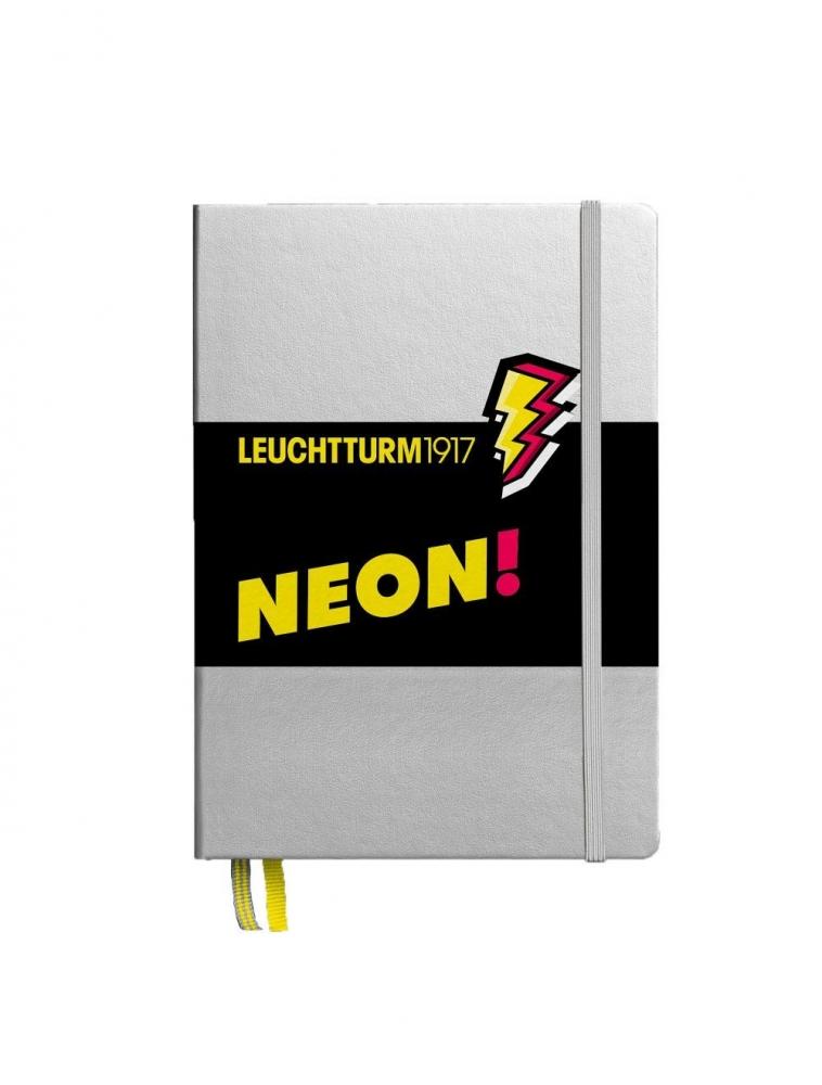Lt361389,Leuchtturm notitieboek puntjes neon geel
