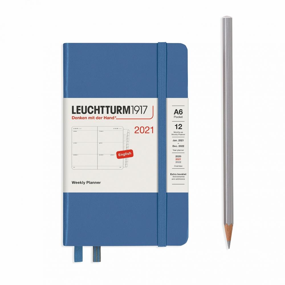 Lt362005,Leuchtturm agenda 2021 pocket 9x15 9x15 7d2p denim