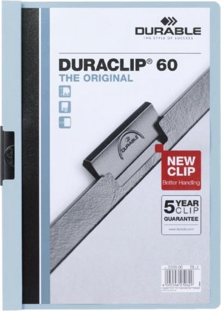 ,Klemmap Durable 2209 A4 6mm blauw