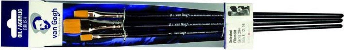 ,Talens van gogh penselen 294 set 3 st 8,12,16