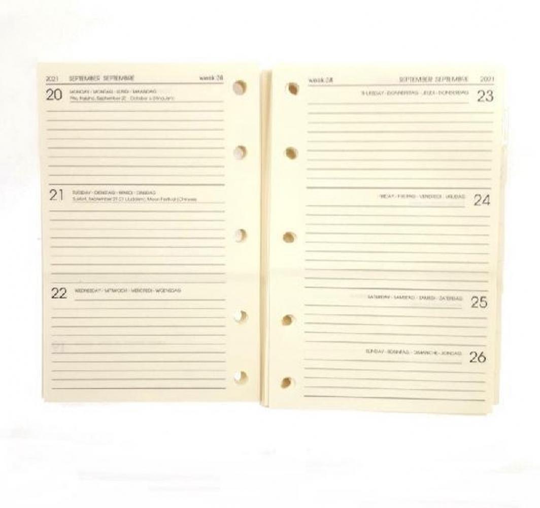 ,Agendainhoud 2021 lugano mini 7d2p creme