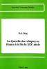 Berg, R. -J., La querelle des critiques en France ? la fin du XIXe si?cle