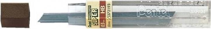 , Potloodstift Pentel 0.3mm zwart per koker HB