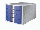 , ladenkast HAN Impuls met 4 gesloten laden blauw