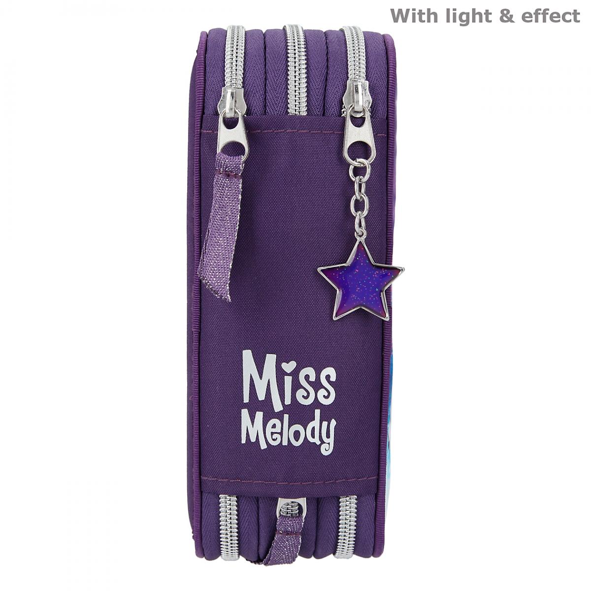 ,Miss melody 3-vaks etui led northern lights