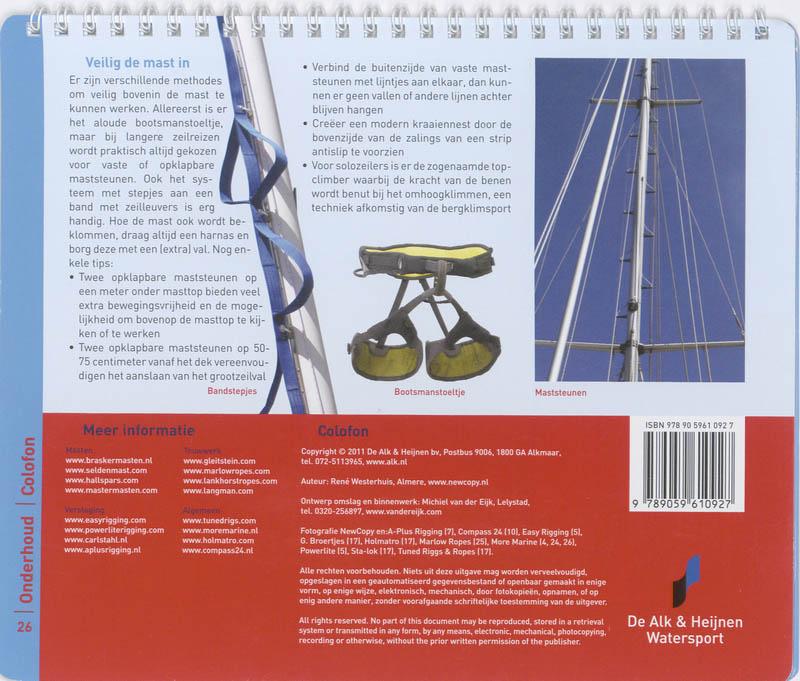 Rene Westerhuis,Mast en tuigage