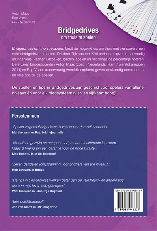 Anton Maas, Bep Vriend, Rijk van der Krol,Bridgedrives om thuis te spelen 7
