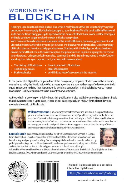 Willem Vermeend, Louis de Bruin,Working with Blockchain
