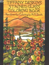 Albert G. Smith Tiffany Designs Stained Glass Coloring Book