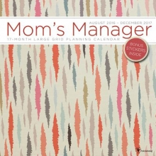 Mom`s Manager Mojave 17 Month Large Grid Planning 2017 Calendar